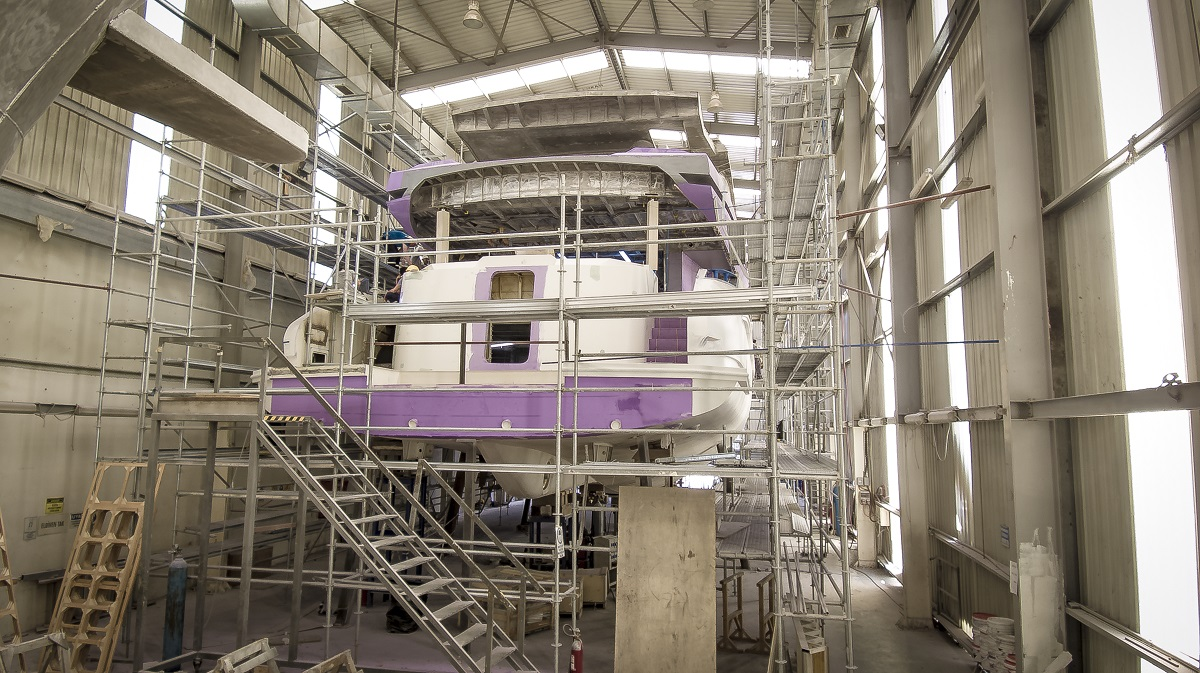 Kando110 34M Superyacht, the Construction is Underway